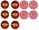 DELUXE FIREPOWER Pinball Machine Target Cushioned Decals