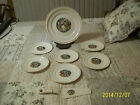 Courting Couple Vintage 8 Piece Cake Set Hacker Pottery 1950's Made In USA