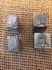 Set Of 4 Printing Press Stamps Patriotic