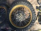 96-08 00 Suzuki Rm250 Rm125  Rm 125 250 Hub Rear Wheel Assembly Excel Gold 19