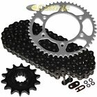 Black O-Ring Drive Chain & Sprocket Kit for Husaberg Fe400E 2000 2001 2002 2003