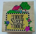 All Night Media HOME SWEET HOME 839F Mary Engelbreit WM Rubber Stamp (New)