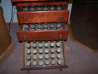 CABINET for Phonograph Cylinders Antique Mahogany Edison Columbia Records