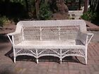 1920s Wicker Sofa Loveseat Vintage Shabby for a project or display, some damage