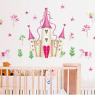 PRINCESS CASTLE WALL DECALS New Hearts  Stars Stickers Girls Bedroom Decor USA