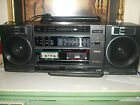 VINTAGE SANYO C-33 BOOMBOX WITH DUAL CASSETTE  RECORDER AM/FM PORTABLE RADIO
