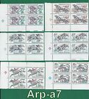 Czechoslovakia of 6 block series stamps MNH  1978 Horse Racing B 65L