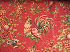 Waverly Saison de Printemps Bordeaux Red Green Blue Rooster Toile Fabric