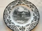1950 Wedgwood Black/Gray Souvenir Historical Plate Fenimore House Cooperstown NY
