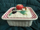 Fitz and Floyd Papa Paisano Covered Vegetable Bowl #2058/343 EUC Olives Tomato