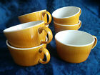 SET of SEVEN Franciscan Discovery Topaz Retro Coffee Tea Cup Mid Century Gold