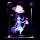 Fairy Fairies S2 3D Laser Etched Crystal + Display Light Base FREE SHIPPING