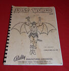 ORIGINAL VINTAGE BALLY LOST WORLD PINBALL GAME OPERATORS MANUAL,1978