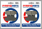 Front Brake Pads (2 Pairs) for Honda GL 1200 DX Gold Wing 1986