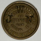 NAVY CIVIL WAR TOKEN COUNTER-STAMPED