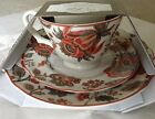222 Fifth WINTER FLORAL LUNCHEON SET OF 3 TEA CUP SAUCER PLATE