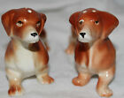 Vintage Dachshund Weiner Dog Salt Pepper Shaker Set Ceramic