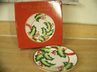 2004 Fitz and Floyd Noel Classique 8 Inch Canape Plate in Original Box EUC!!!