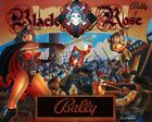 BLACK ROSE Pinball CABINET light Mod RED
