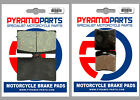 Front & Rear Brake Pads (2 Pairs) for MZ 660 (MUZ) Skorpion Traveller 1999