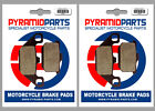 Kawasaki Z 750 LTD Twin 1983 Front & Rear Brake Pads Full Set (2 Pairs)