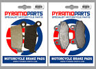 Hyosung XRX 400 2005 Front & Rear Brake Pads Full Set (2 Pairs)