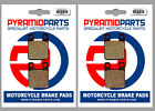 Derbi 50 Senda R, X-Treme 94-04 Front & Rear Brake Pads Full Set (2 Pairs)