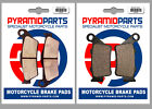 CCM 604E 600 Supermoto 99-01 Front & Rear Brake Pads Full Set (2 Pairs)
