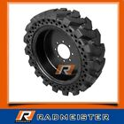 12x165 A Set of 4 Solid Flat Proof Skid Steer Tires NEW HOLLAND CASE JD