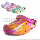 New Kids Youth Girls Tie Dye Outdoor Clogs Water Shoes Youth 12 13 1 2 3 4