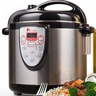 Electric Pressure Cooker 6 Quart Stainless Steel Multi Cooking Pot Digital Combo
