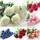 10 20 head Real Latex Touch Rose Flower Wedding Home Decor Bridal Bouquet