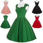 Vintage Swing 50s 60s Retro Dress Casual Evening Cocktail Party Pin Up Tea Dress