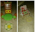 Lot of Vintage Strawberry Shortcake Berry Happy Home furniture and dolls.