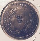 1837 PRE CIVIL WAR HARD TIMES TOKEN (COUNTERSTAMPED  S.T. ) NICE COIN
