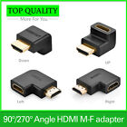 HDMI male to HDMI female cable adapter converter extender 90 degrees angle 270