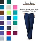 Cherokee Workwear PETITE Womens Nurse Scrub Pants Style 4101P NEW Free Ship