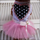 Pink Pet Dog Tutu Dress Princess Lace Skirt Clothes for Teddy Chihuahua S M L