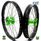 21/19 MX WHEEL FIT KAWASAKI KX125 KX250 KX250F 04-18 KX450F 06-18 RIMS GREEN