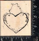 Hooks Lines  Inkers Wood Mounted Rubber Stamp Wood Heart