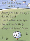 Tips Aging Golfer Recycled Paper Greetings Funny Birthday Card