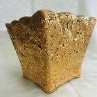 Weeping Bright 22K Gold Square Hand Decorated U.S.A Vase/Planter