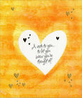 Diecut Heart Window Thinking of You Card Greeting Card by Freedom Greetings