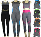 NWT Womens 2 Piece Athletic Gym Outfit Set Tank Top Yoga Workout One Size