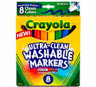 Crayola Ultra Clean Washable Markers Broad Line 8 Ct 58 7808