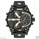 Diesel Original DZ7350 Mr Daddy 2.0 Black Leather Strap Chronograph Watch 56mm