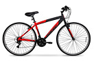 700c Hyper SpinFit Men's Hybrid Bike 21-Speed Aluminum Frame Mountain Road Red