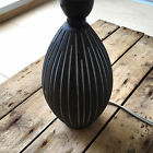 vintage lamp base pottery danish black and white collectible stoneware retro