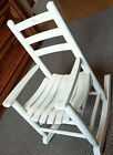 ANTIQUE WOOD SLAT CHILD'S ROCKING CHAIR 24 INCHES