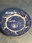ENGLISH SCENE BLUE-CHURCHILL Made In England Replacement China Dessert Plate 7